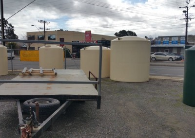 Master Tanks delivery trailer ready for loading of our locally manufactured tanks for delivery in Norwood - an Adelaide suburb