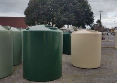 Rainwater tanks fresh from being fabricated at Richmond Adealide