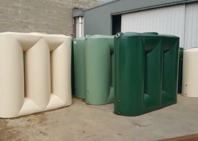 Variety of slimline poly tanks
