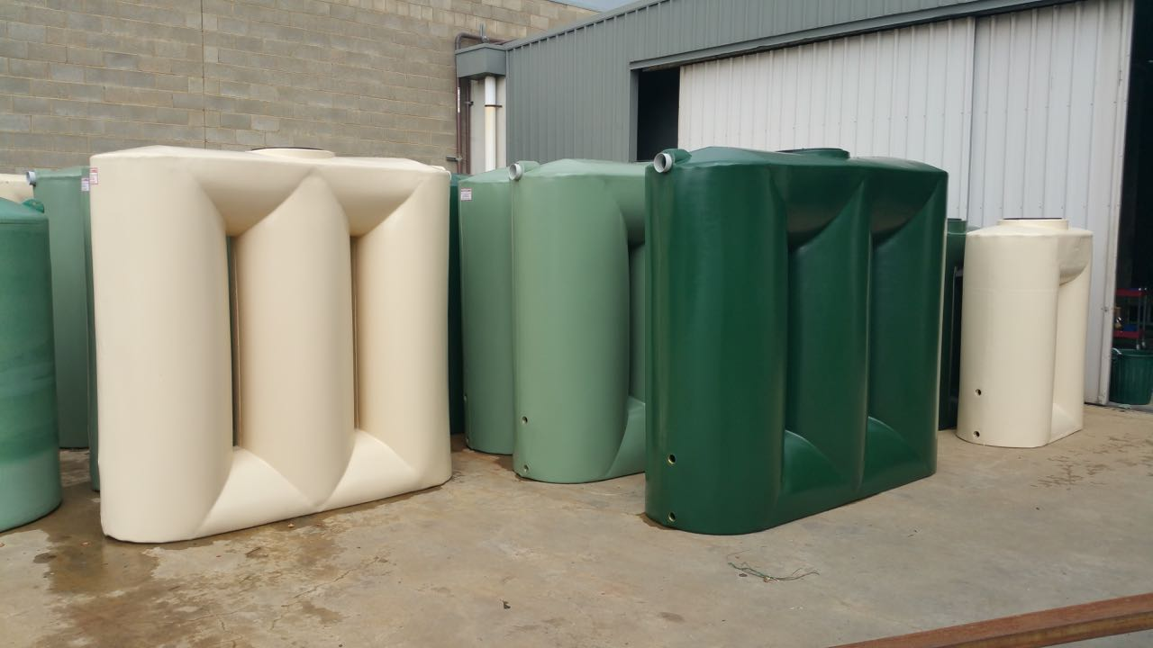 Slimline poly tanks for durability space masters
