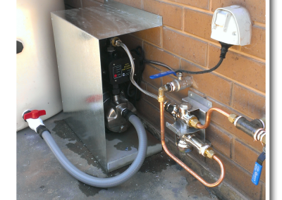 Fitting one of our tanks with this pump in Brighton - a suburb of Adelaide, south Australia