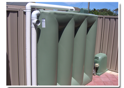 Another one of our slimline rainwater tanks installed in a suburb of Adelaide, South Australia