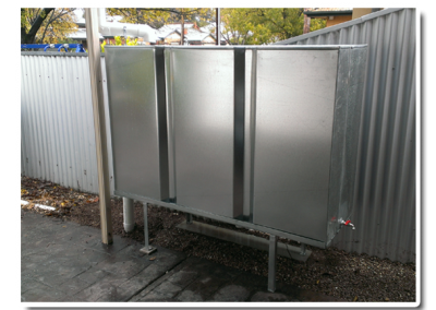 We fabricate steel modular tanks here in Richmond, Adelaide