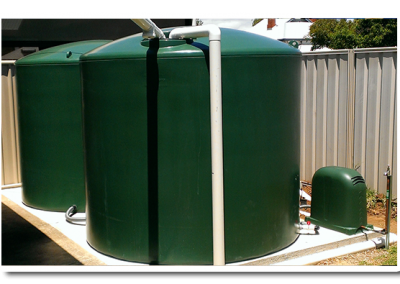 Our poly rainwater round tanks are available in a range of colours in suburban Adelaide