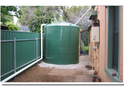 Poly Rainwater Tank supplied by Master Tanks in Adelaide suburb of Campbelltown