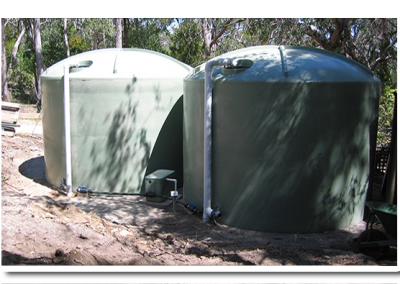 Our round rainwater tanks have a 25 year guarantee and are made locally here in South Australia, we supplied this one in Tea Tree Gully - a suburb of Adelaide