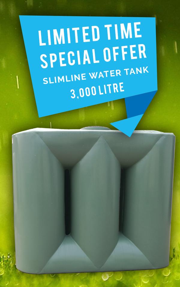 1,100L Slimline Poly Tank